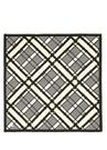 Siyah Geometrik Desenli 90x90 Kadın İpek Eşarp