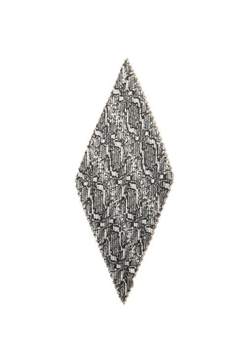 Siyah Yılan Derisi Desenli Kadın Fular