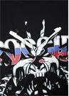 Siyah Kamuflaj Desen Garnili Baskılı T-shirt