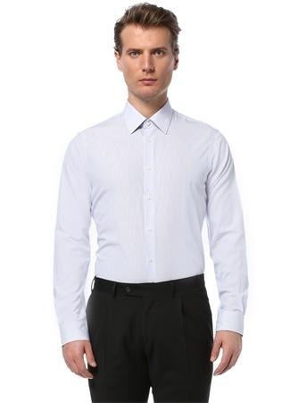 41 male Mavi Beymen Bes Erkek Custom Fit İngiliz Yaka Gömlek IT