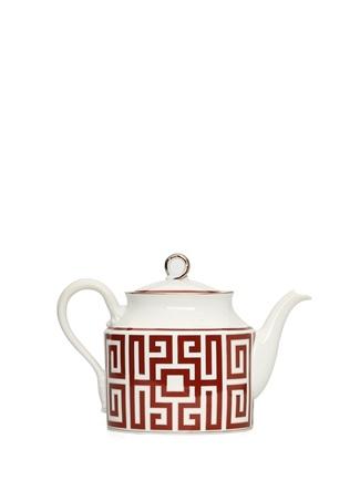 Labirinto Beyaz Kırmızı Desenli Çaydanlık