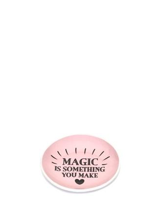 Miss Etoile Pembe You Are Magic Baskılı Porselen Çay Tabağı Ürün Resmi