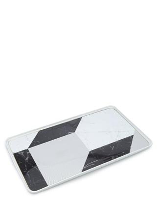 Carrara Geometrik Desenli Porselen Servis Tabağı