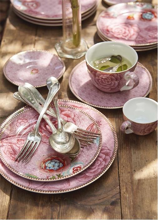 Spring To Life Pembe İkili Çay Fincanı Seti