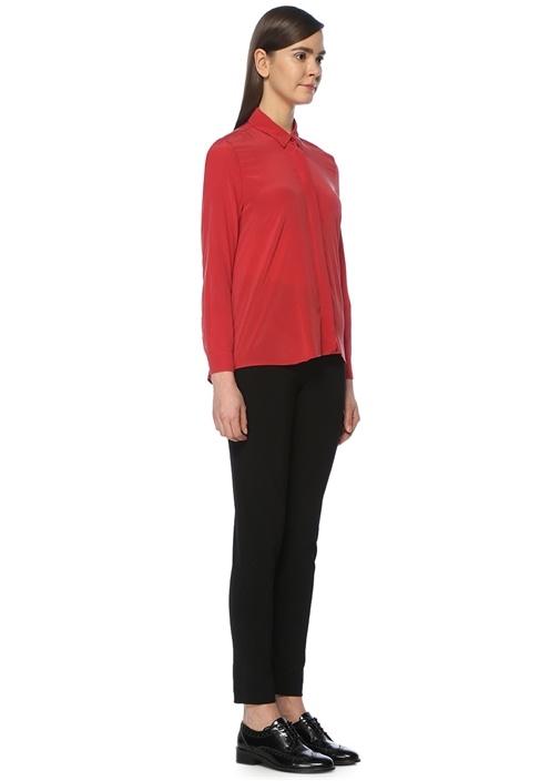 Kırmızı İpek Casual Fit Gömlek