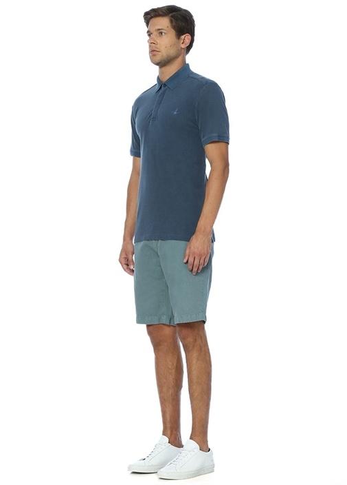 Petrol Slim Fit Polo Yaka Tshirt