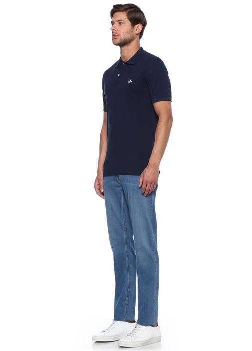 Lacivert Comfort Fit Polo Yaka Tshirt