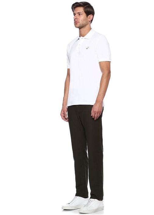 Beyaz Polo Yaka Comfort Fit Tshirt