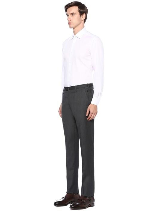 Non Iron Comfort Fit Beyaz Kesik Yaka Gömlek