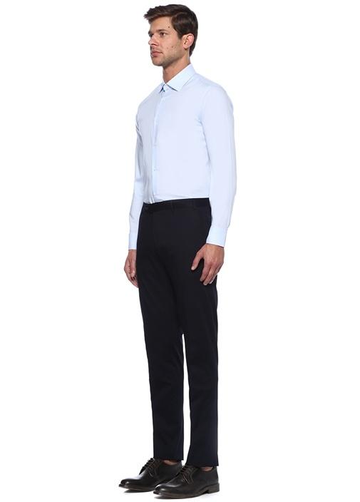 Mavi Slim Fit Noniron Özellikli Oxford Gömlek
