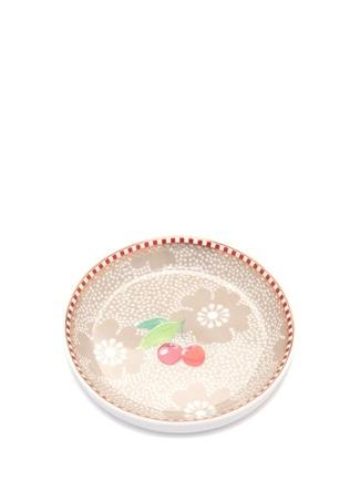Pip Studio Floral Kirazlı Haki Çay Tabağı Standart