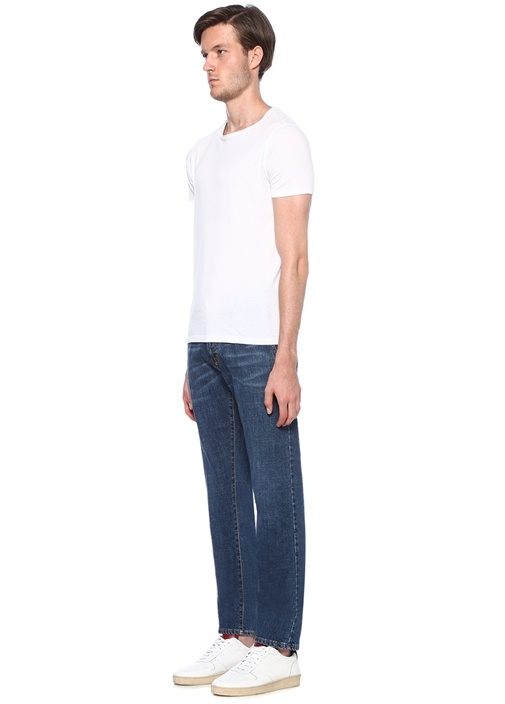 Catone Mavi Normal Bel Boru Paça Jean Pantolon