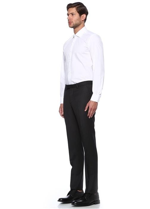 Custom Fit Beyaz Dört Mevsim Gömlek