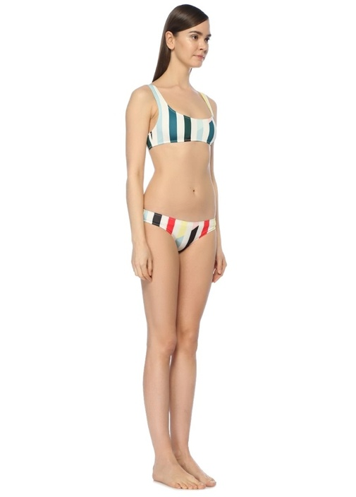 Elle Çizgili Bikini Altı