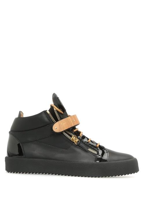 Giuseppe Zanotti Siyah ERKEK  Coby Siyah Deri Erkek Sneaker 468787 Beymen