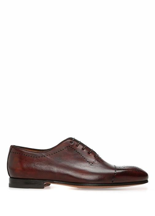 Kahverengi Bağcıklı Erkek Deri Ayakkabı