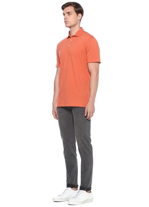 Regular Fit Turuncu Polo Yaka T-shirt