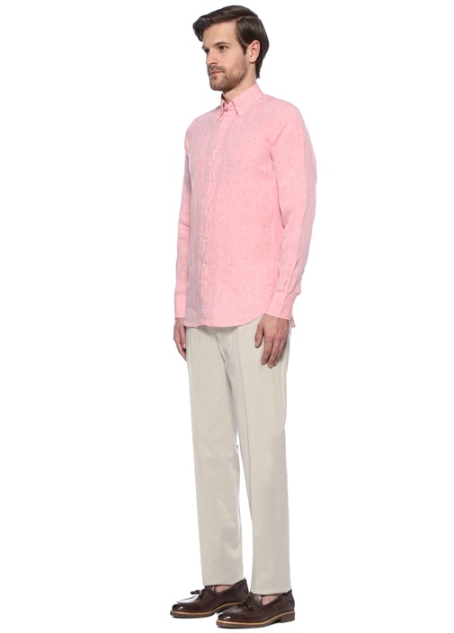 Krem Normal Bel Bol Paça Pantolon