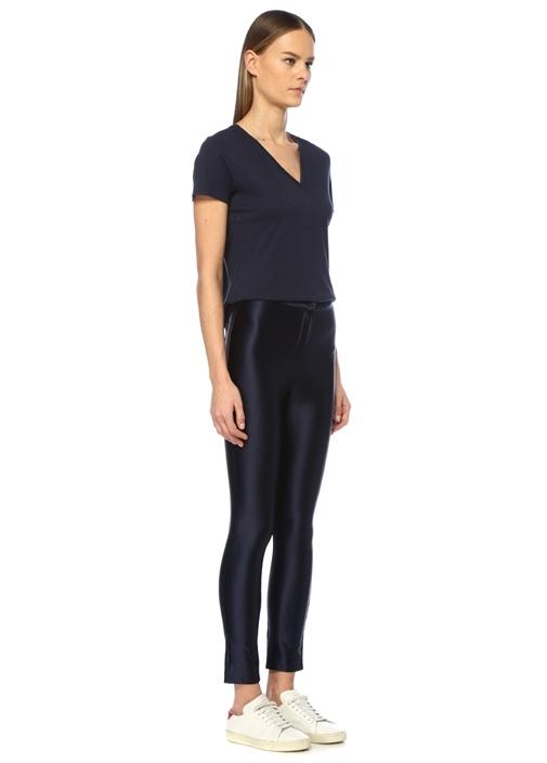 Cecile Lacivert Yüksek Bel Dar Paça Pantolon