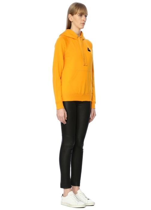 Malibu Sarı Kapüşonlu Cepli Sweatshirt