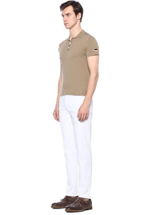 Chino Beyaz Kanvas Pantolon