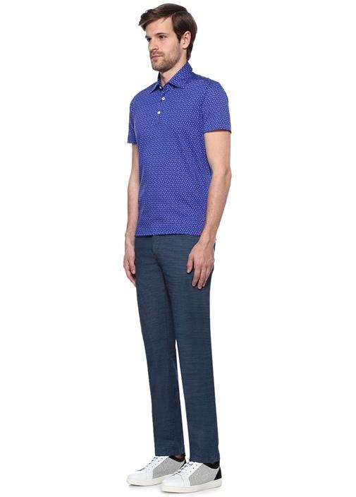 Koyu Mavi Dar Paça Jean Pantolon