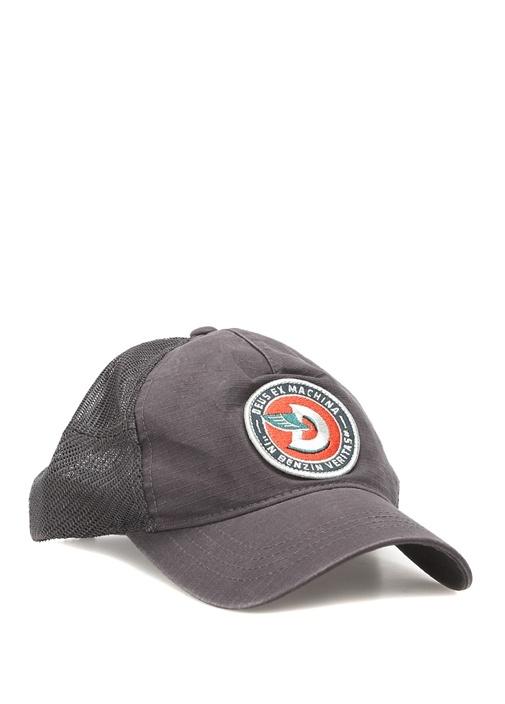 Gri File Detaylı Logolu Erkek Şapka