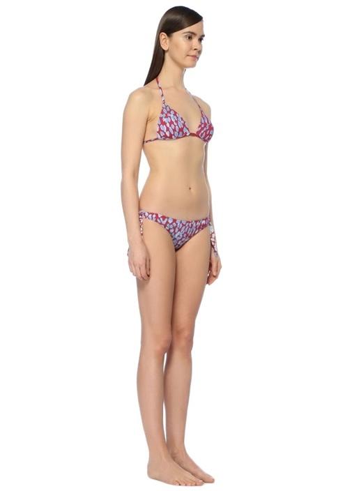 Padded Triangle Top Leopard Cerise Bikini Üstü