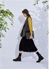 Siyah Ördek İşlemeli Kadın Tweed El Portföyü