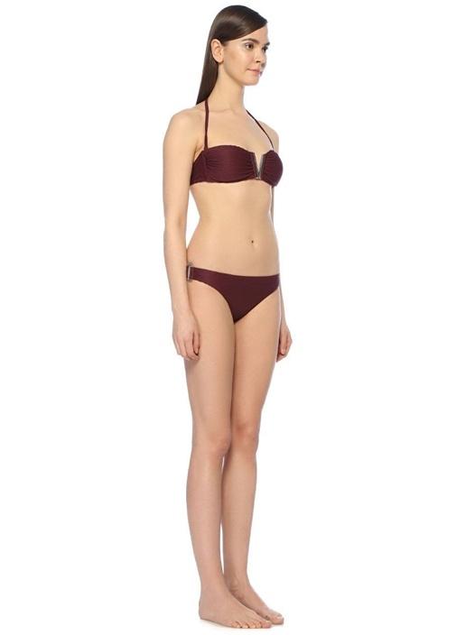 Monaco Bordo V Tokalı Bikini Üstü