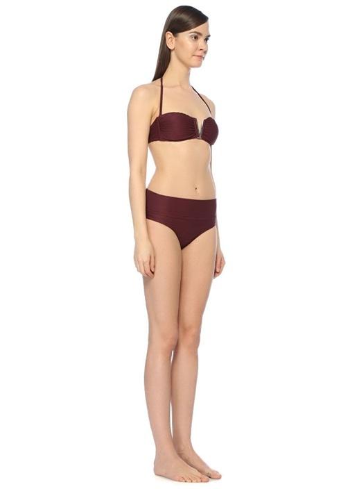 Monaco Bordo Katlı Bikini Altı
