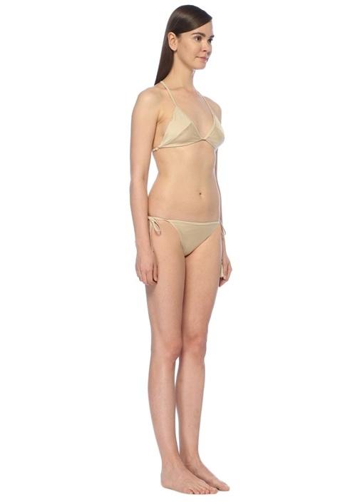 Gold Çapraz Şerit Detaylı Bikini Üstü