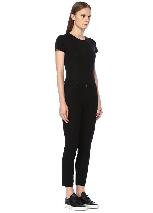 Ruby Siyah Yüksek Bel Crop Cigarette Jean Pantolon