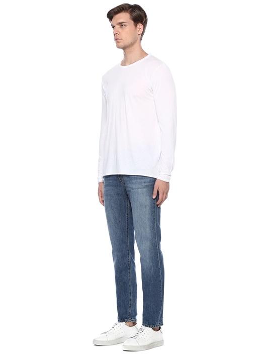 Tyler Taper Slim Fit Mavi Yıpratmalı Jean Pantolon
