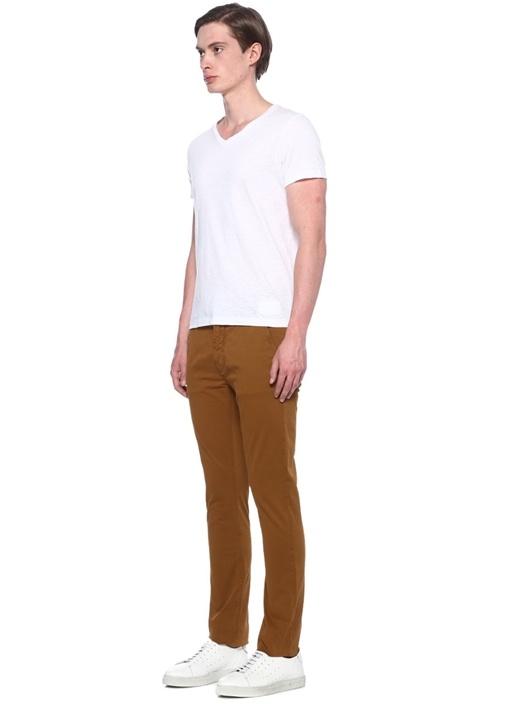 Slim Adam Taba Organik Pamuk Canvas Pantolon