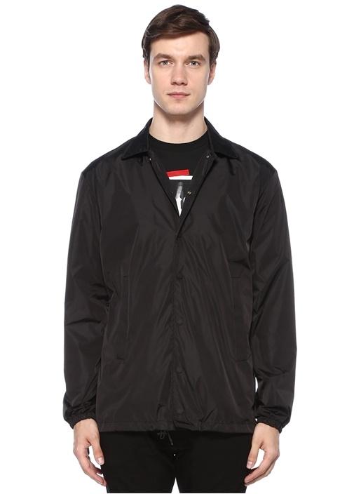 Siyah Baskılı Ceket
