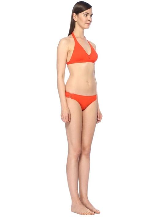 Corset Kırmızı Yanları İpli Bikini Altı