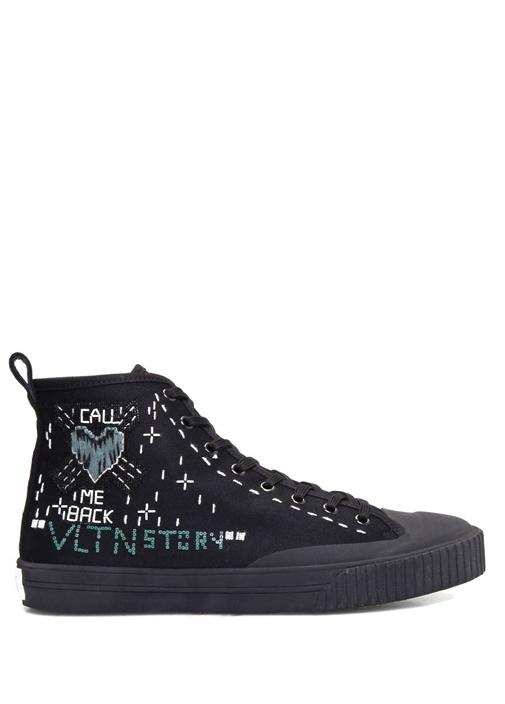 Valentino Garavani Siyah Nakışlı Erkek Sneaker