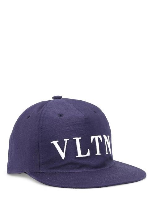 Lacivert Logolu Erkek Şapka