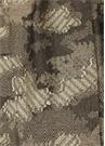 Kahverengi Desenli Sim Doku Detaylı Kadın Şal