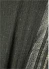 Antrasit Simli Şerit Baskılı Kadın Yün Şal