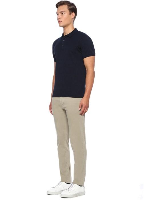 Lacivert Pike Dokulu Polo Yaka T-shirt