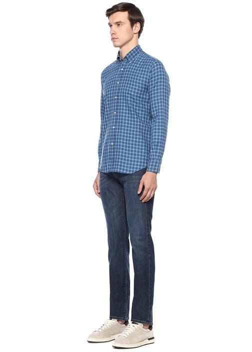 Açık Mavi Normal Bel Boru Paça Jean Pantolon