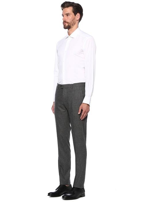 Trofeo Comfort Fit Beyaz İngiliz Yaka Gömlek