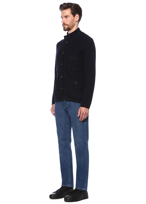 Slim Fit Lacivert Normal Bel Jean Pantolon