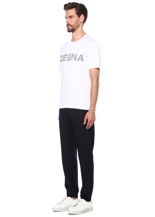 Lacivert Normal Bel Yün Jogger Pantolon