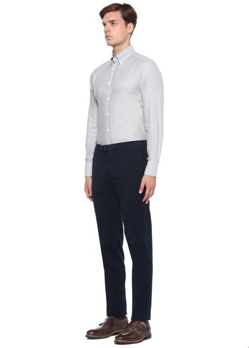 Traditional Fit Lacivert Kanvas Pantolon