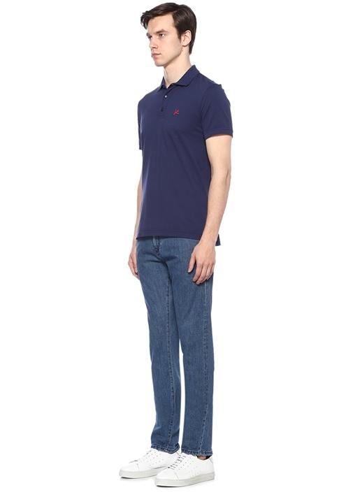 Lacivert Logolu 5 Cepli Jean Pantolon