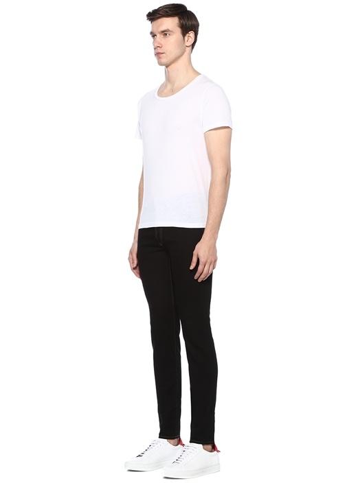 Skinny Fit Siyah Normal Bel Dar Paça Jean Pantolon