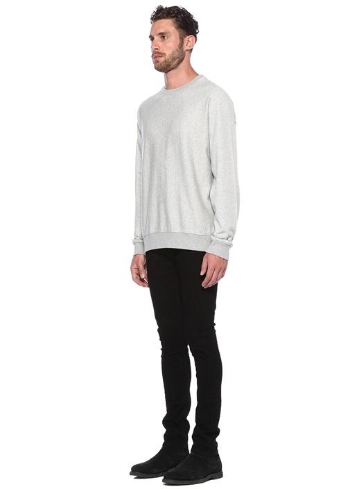 Gethian Oversize Fit Gri Melanj Sweatshirt